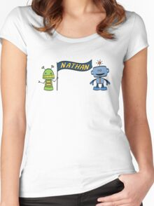 nathan w robots Women's Fitted Scoop T-Shirt