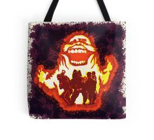 Pumpkin carving Ghost Busters Tote Bag