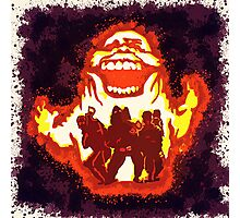 Pumpkin carving Ghost Busters Photographic Print