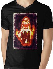 Pumpkin carving Ghost Busters Mens V-Neck T-Shirt
