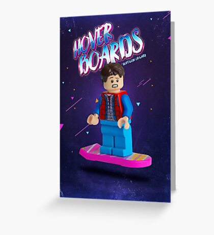 Back To The Future  Lego Marty Mcfly Greeting Card