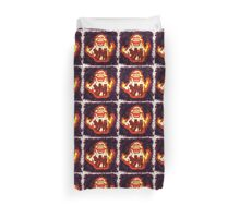 Pumpkin carving Ghost Busters Duvet Cover