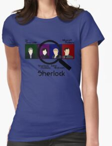 BBC Sherlock Squares Womens Fitted T-Shirt