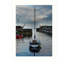 Yacht in the Harbour Art Print