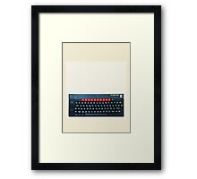 BBC Micro top-down Framed Print