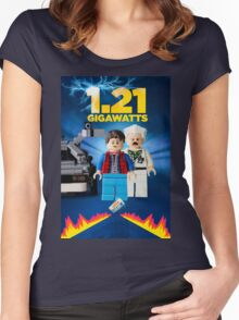 Lego Back To The Future -  Marty McFly Women's Fitted Scoop T-Shirt