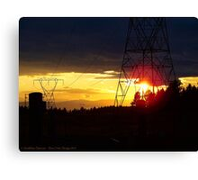 Electrified Evening Canvas Print