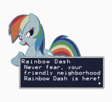 My Little Pony Rainbow Dash Quote Shirt Baby Tee