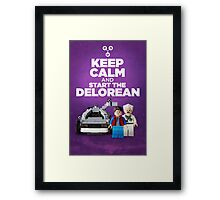 Keep Calm and start the delorean Framed Print