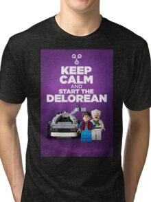 Keep Calm and start the delorean Tri-blend T-Shirt