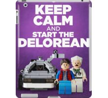 Keep Calm and start the delorean iPad Case/Skin