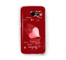plainly ~ i love you iPhone Case Red Samsung Galaxy Case/Skin