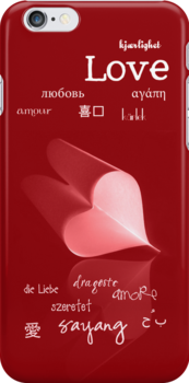 plainly ~ i love you iPhone Case Red by Adriana Glackin