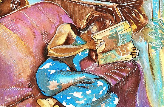 Young Girl Reading by ivDAnu