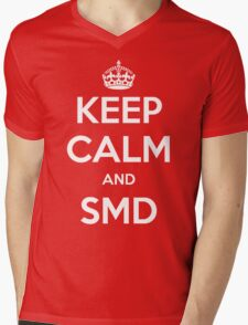 Keep Calm and SMD Mens V-Neck T-Shirt