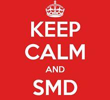Keep Calm and SMD Mens V-Neck T-Shirt