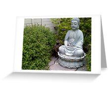 Buddha Cat Greeting Card