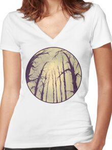 I got lost... Women's Fitted V-Neck T-Shirt