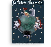 La Petite Mermaid (version2) Canvas Print