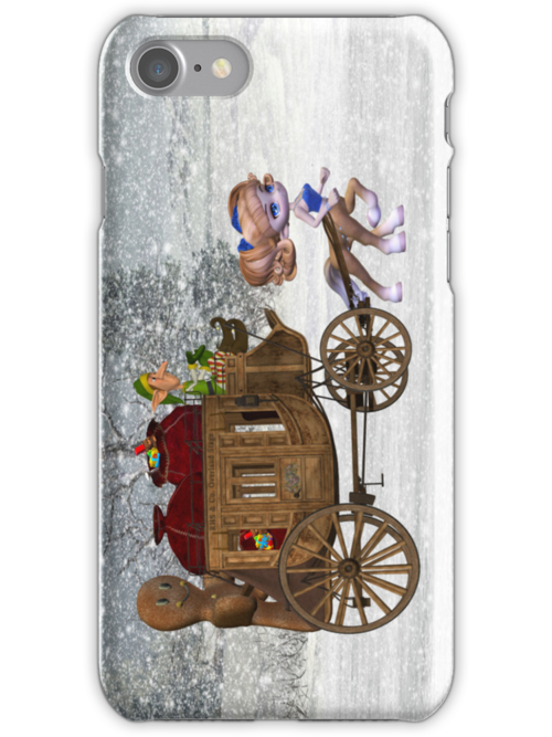 Saving Christmas .. iphone case by LoneAngel
