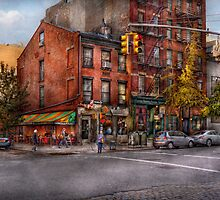 New York - City - Corner of One way & This way  by Mike  Savad