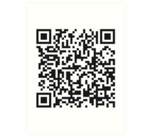 QR Code Quote - Technology Has Exceeded Our Humanity Art Print