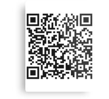 QR Code Quote - Technology Has Exceeded Our Humanity Metal Print