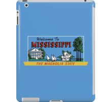 Welcome to Mississippi Sign, Vintage 50s iPad Case/Skin
