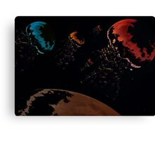Jellyfish planets Canvas Print