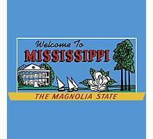 Welcome to Mississippi Sign, Vintage 50s Photographic Print