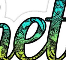 Theta Doodle Sticker
