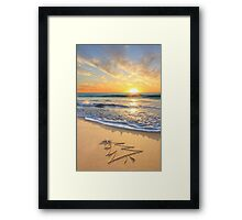 Christmas Wishes From The Children's Beach Framed Print