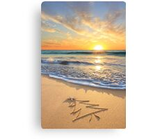 Christmas Wishes From The Children's Beach Canvas Print