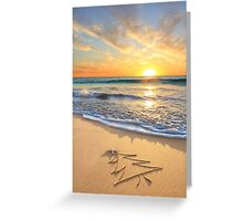 Christmas Wishes From The Children's Beach Greeting Card