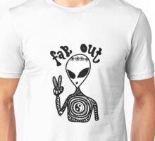 """Far Out"" Hippie Alien Zentangle Unisex T-Shirt"