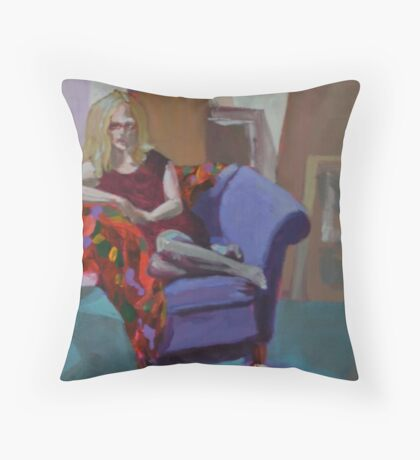 Kerrys' Red Shoes Throw Pillow