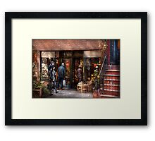 New York - Store - Greenwich Village - The gift shop  Framed Print
