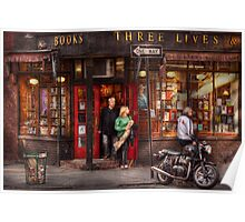 New York - Store - Greenwich Village - Three Lives Books  Poster