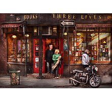 New York - Store - Greenwich Village - Three Lives Books  Photographic Print