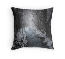 The dark river Throw Pillow