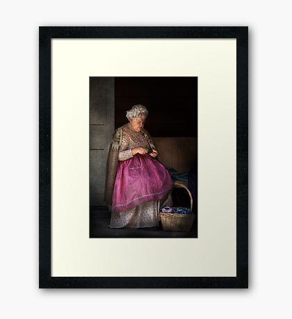 Sewing - Ribbon - Granny's hobby  Framed Print
