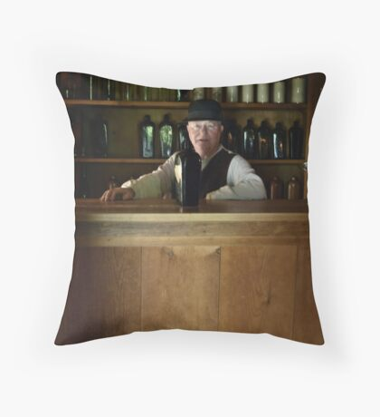 The bartender Throw Pillow