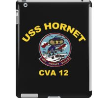 USS Hornet (CV/CVA/CVS-12)  Crest for Dark Colors iPad Case/Skin