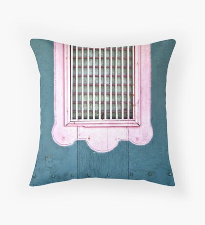The Pink Window Throw Pillow