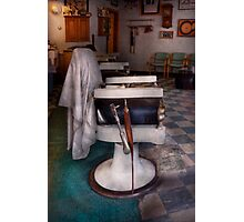 Barber - Frenchtown, NJ - We have some free seats  Photographic Print