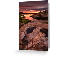 Sunset Dells Greeting Card