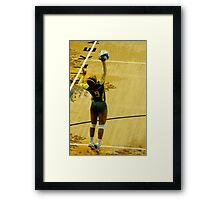 Serving Match Point Framed Print