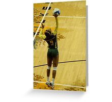 Serving Match Point Greeting Card