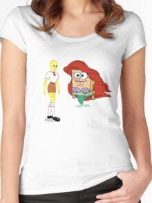 Little Merbob Maidpants Women's Fitted Scoop T-Shirt