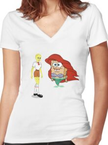 Little Merbob Maidpants Women's Fitted V-Neck T-Shirt